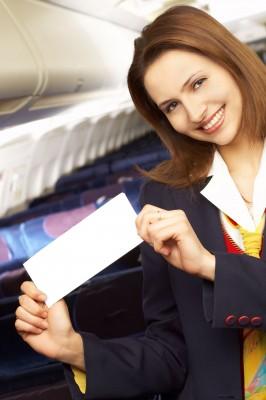 Lufthavn-air hostess